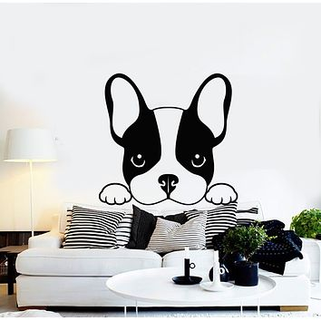 Vinyl Wall Decal French Bulldog Dog Puppy Animal Positive Pets Stickers Mural (g625)