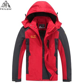 Spring autumn Jacket Men Hood Windproof Windbreaker Jacket Men Breathable thin Jackets And Coats