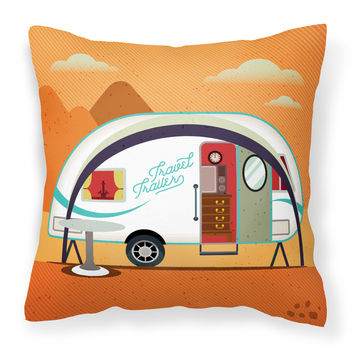 Greatest Adventure New Camper Fabric Decorative Pillow BB5480PW1414