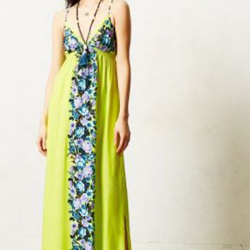 Fleur Column Maxi Dress by Seafolly Chartreuse
