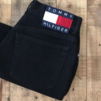 "24""/25"" Tommy Hilfiger Shorts/Vintage Tommy Hilfiger/90s shorts/Levi High Waisted Denim Shorts/Jean Shorts/Cutoff Shorts"