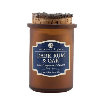 Northern Lights Candles: Spirits Jars-Dark Rum & Oak