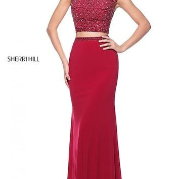 Sherri Hill Two-Piece Dress with Beaded Top