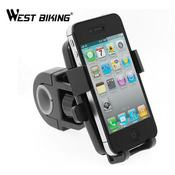 WEST BIKING Bike Navigation Bicycle Phone Holder Double Rotation Clip Stand Bracket Universal Cycling Bicycle Phone Holder