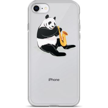 Panda iPhone 7 8 Case | Funny Bear Lover Gift Cover | The Jazzy Panda