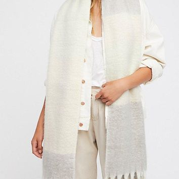 Free People Cameron Brushed Plaid Scarf