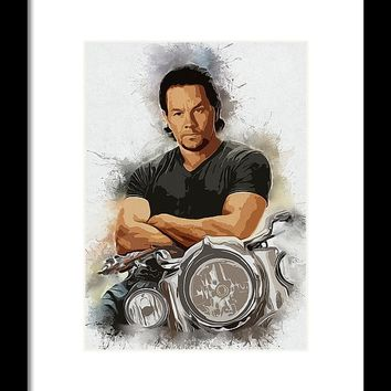 A Tribute To Mark Wahlberg Framed Print