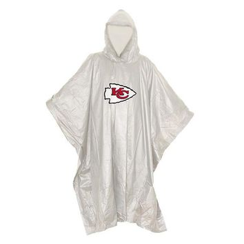 Kansas City Chiefs NFL Clear Lightweight Poncho