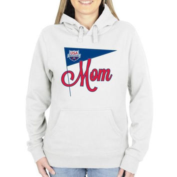 USA Swimming Ladies Mother's Pennant Pullover Hoodie - White
