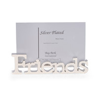 "Silver Plated ""Friends"" Picture Frame"