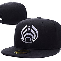 HAIHONG Bassnectar Logo Adjustable Snapback Embroidery Hats Caps - Black
