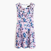J.Crew Womens Flare Dress In Watercolor Floral Print
