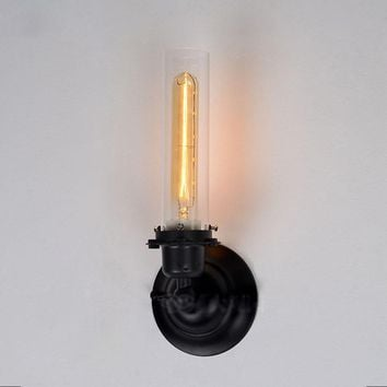 Loft Vintage Industrial Retro Ameican Country Clear Glass Edison Wall Sconce Lamp Bathroom Mirror Home Modern Lighting Fixture