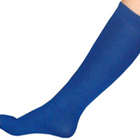 Thin Royal Blue Knee High Socks
