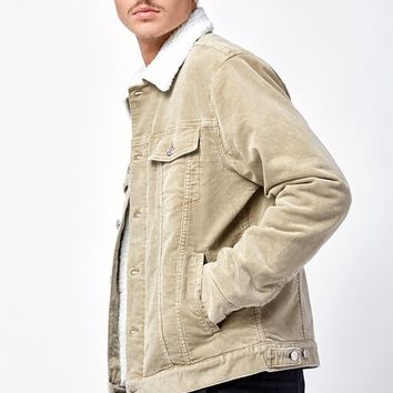 PacSun Classic Corduroy Sherpa Trucker Jacket at PacSun.com