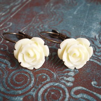 Ivory Rose Earrings | Luulla