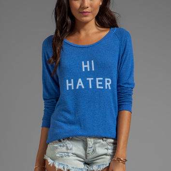 Local Celebrity Hi Hater Bye Hater Sweater in Royal Stone from REVOLVEclothing.com