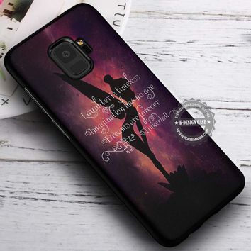 Fairies Quotes Silhouette Tinkerbell iPhone X 8 7 Plus 6s Cases Samsung Galaxy S9 S8 Plus S7 edge NOTE 8 Covers #SamsungS9 #iphoneX