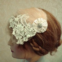 1920's Wedding Headpiece, Flapper S.. on Luulla