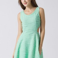 Cut Out Textile Mint Dress - Retro, Indie and Unique Fashion