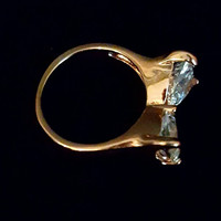 18k RGP Crystal Bow Tie Ring Size 6