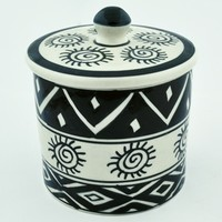 Handpainted Ceramic Jar