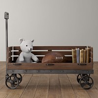 Industrial Wooden Wagon Storage