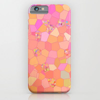 Peach and Pink Mosaic Abstract Phone Case, mosaic iphone 6, 6 plus iphone 5, Samsung s5, s6, colorful, popular, cases, protective, gadgets
