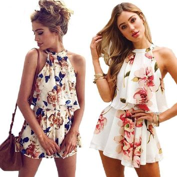 Boho Floral Print Rompers and Two Pieces