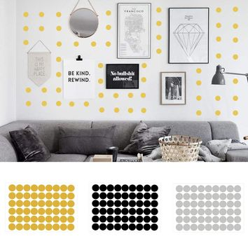 20/54pcs Fashion Removable Dot Wall Stickers Vinyl Nursery Wall Decal Circle Theme Home Decor Children Bedroom DIY Art