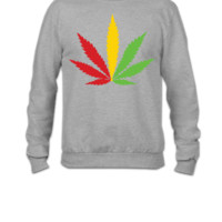 MARIJUANA JAMAICAN COLOR - Crewneck Sweatshirt