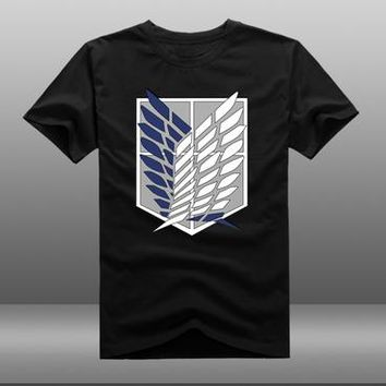 Anime T-shirt graphics Attack on Titan t-shirt cosplay Anime Jiyuu no Tsubasa t shirt summer cotton short-sleeve Tees Tops unisex AT_56_4