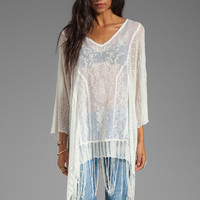 Free People Dancing with Flowers Kaftan in Ivory Combo from REVOLVEclothing.com