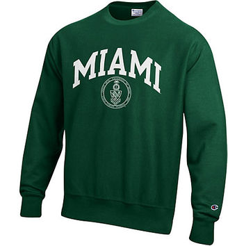 University of Miami Reverse Weave Crewneck Sweatshirt | University Of Miami