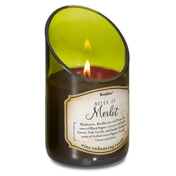 Wine Bottle Merlot 5 Inch Aromatherapy Scented Candle