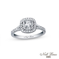 Neil Lane Bridal® Collection 1 CT. T.W. Princess-Cut Diamond Frame Engagement Ring in 14K White Gold