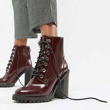 ASOS DESIGN Elm Chunky Lace Up Boots at asos.com