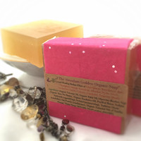 The Abundant Goddess Organic Vanilla VEGAN Soap / All Natural Bath Product/ Crystal Soap, Quartz Included / Handmade Soap / Organic Soap 5oz