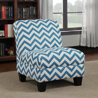Walmart: Gina Zig Zag Armless Accent Chair, Multiple Colors