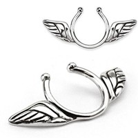 Angel Wings Nipple Rings