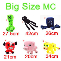Minecraft Plush Toys Big Size Creeper Squid Enderman Pig Mooshroom Ocelot Cat MC Game Large Stuffed Animals Dolls Children Christmas Gift