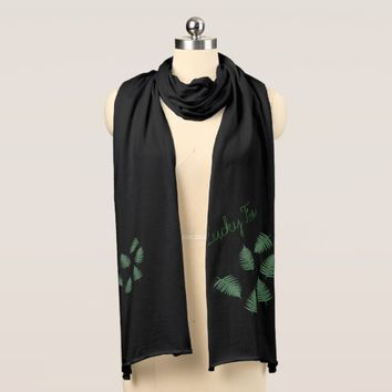 Stylish Green Lucky Fern Jersey Scarf