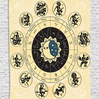 Horoscope Zodiac Wall Boho Tapestry