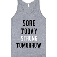 strong tomorrow motivational tank