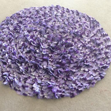 Round Rag Rug, Circle Rugs, Cotton Area Rugs, Boho Chic Rugs, Purple Shabby Rug, Hippie Rustic Rugs, Textured Rugs, Newborn Photography Rugs