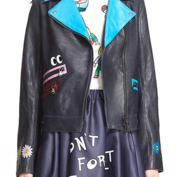 Mira Mikati 'Pick Me' Hand Painted Leather Jacket | Nordstrom