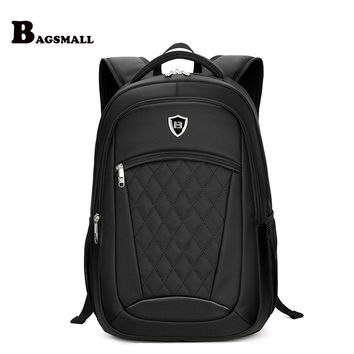 BAGSMALL Male Minimalism Travel Backpack Men's Business 15.6 inch Laptop Backpack Waterproof School Computer Bag For Teenager