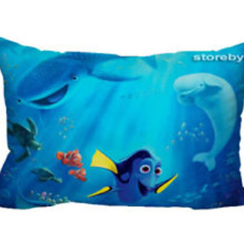 "Finding Dory Disney Zippered Pillow Case 16""x 24"" - 2 sides Cushion Cover"