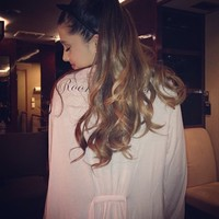 .@arianagrande | big comfy robe.. thank you @wildfoxcouture