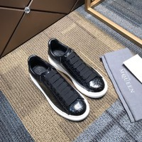 Alexander Mcqueen Mens Fashion 2020 New Embroidery LEATHER Low Top Boots Casual Sneaker Running sport Shoes